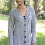 Free Knitting Pattern for a Diamond Cardigan