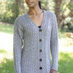Free Knitting Pattern for a Diamond Cardigan