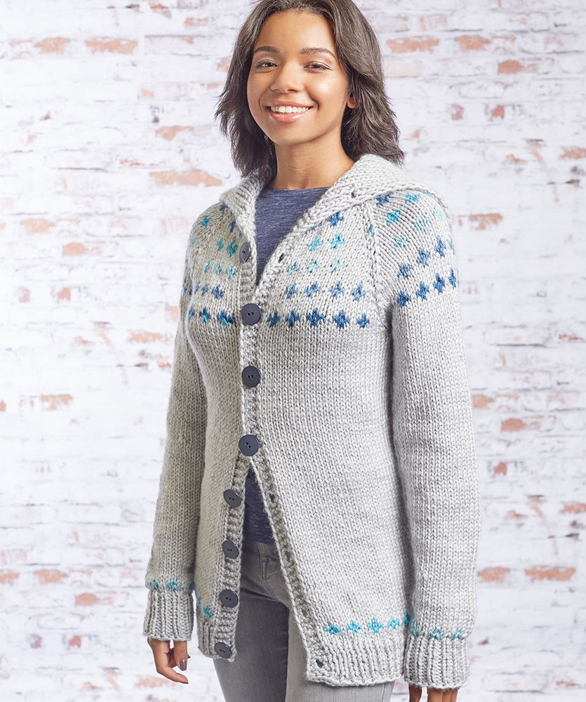 Free free fair isle cardigan knitting patterns Patterns ⋆ Knitting ...
