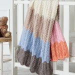Free Knitting Pattern for a Feather and Fan Baby Blanket