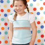 Free Knitting Pattern for a Girl's Skinny Tank Top. Cute tank top to knit for girls from ages 2 to 12 years.