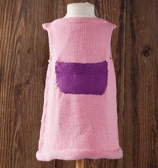 Free Knitting Pattern for a Hattie Child Dress