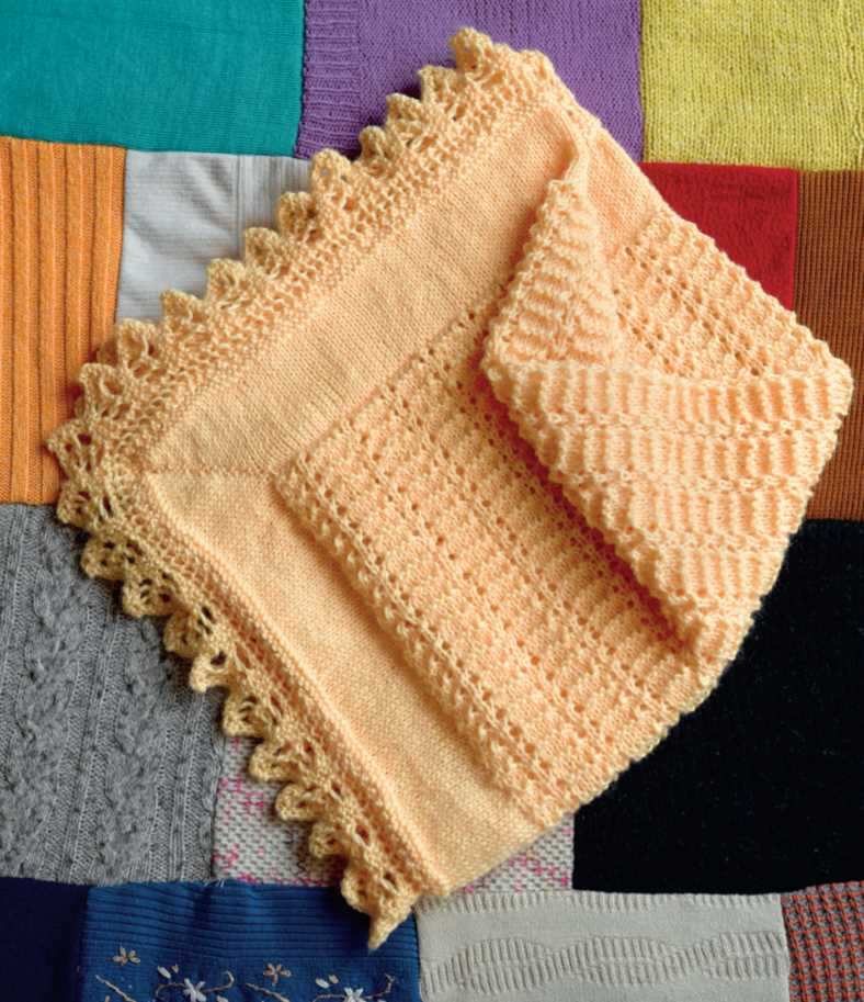 Free Knitting Pattern for a Lacy Edge Baby Blanket