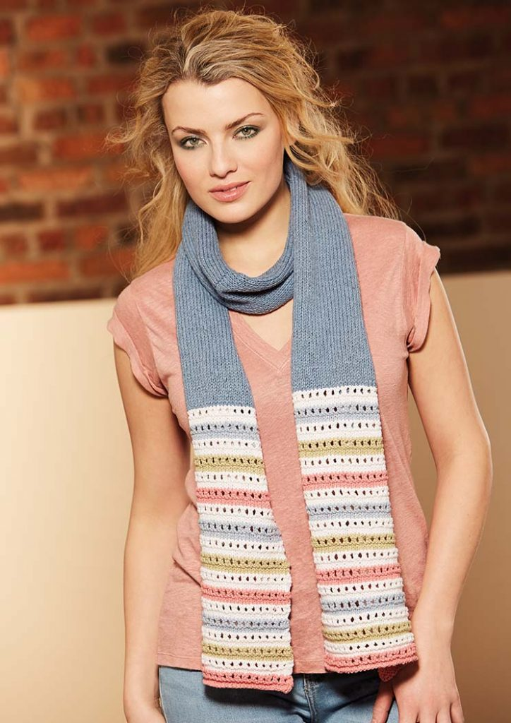 Free Knitting Pattern for a Lina Scarf
