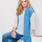 Free Knitting Pattern for a Long Drop Stitch Waistcoat