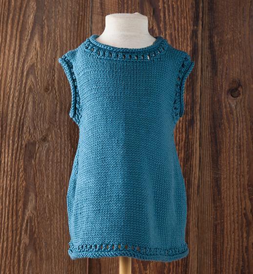 Free Knitting Pattern for a Margot & Iris Child Tunic