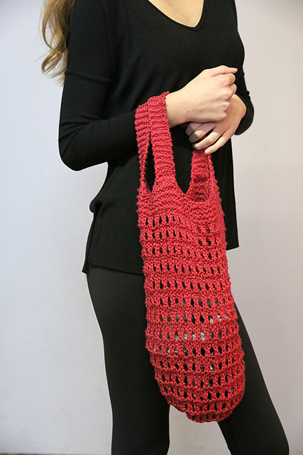 Free Knitting Pattern for a Market Bag.