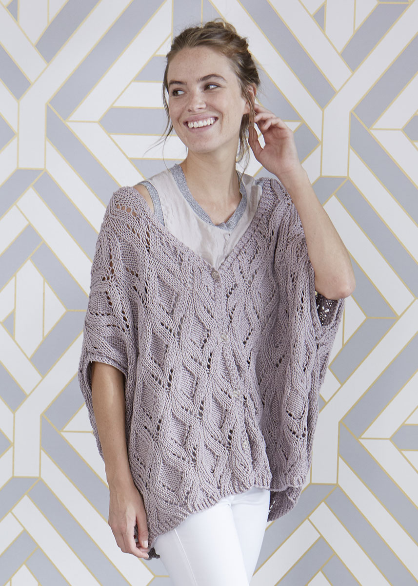 Free Knitting Pattern for a Oversized Lace Vest ⋆ Knitting Bee