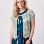 Free Knitting Pattern for a Textured Short Sleeve Bolero Jacket