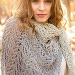 Free Knitting Pattern for a Triangle Lace Leaf Shawl