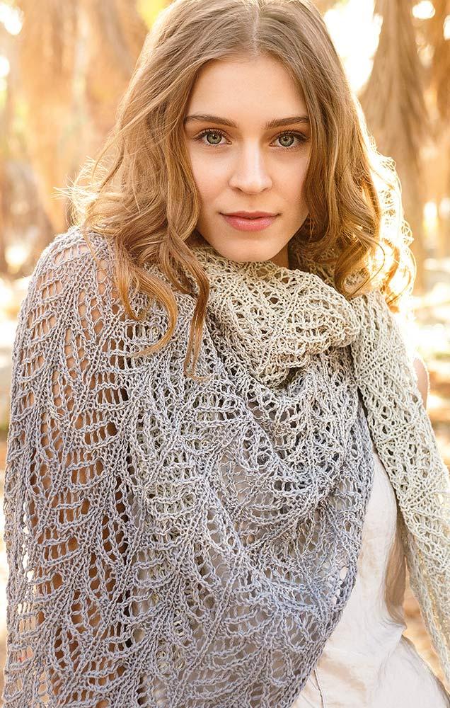 Free Free Lace Leaf Stitch Shawl Knitting Patterns Patterns