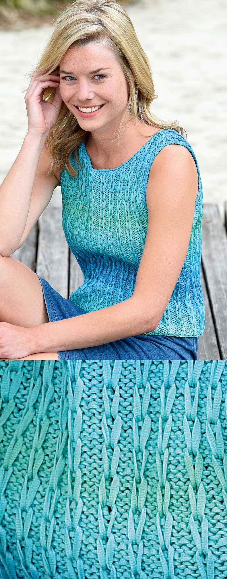 Free Summer Knitting Patterns 2018 tank top