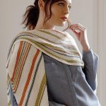 Free Knitting Pattern for the Henny Shawl. Easy garter stitch shawl on the bias.