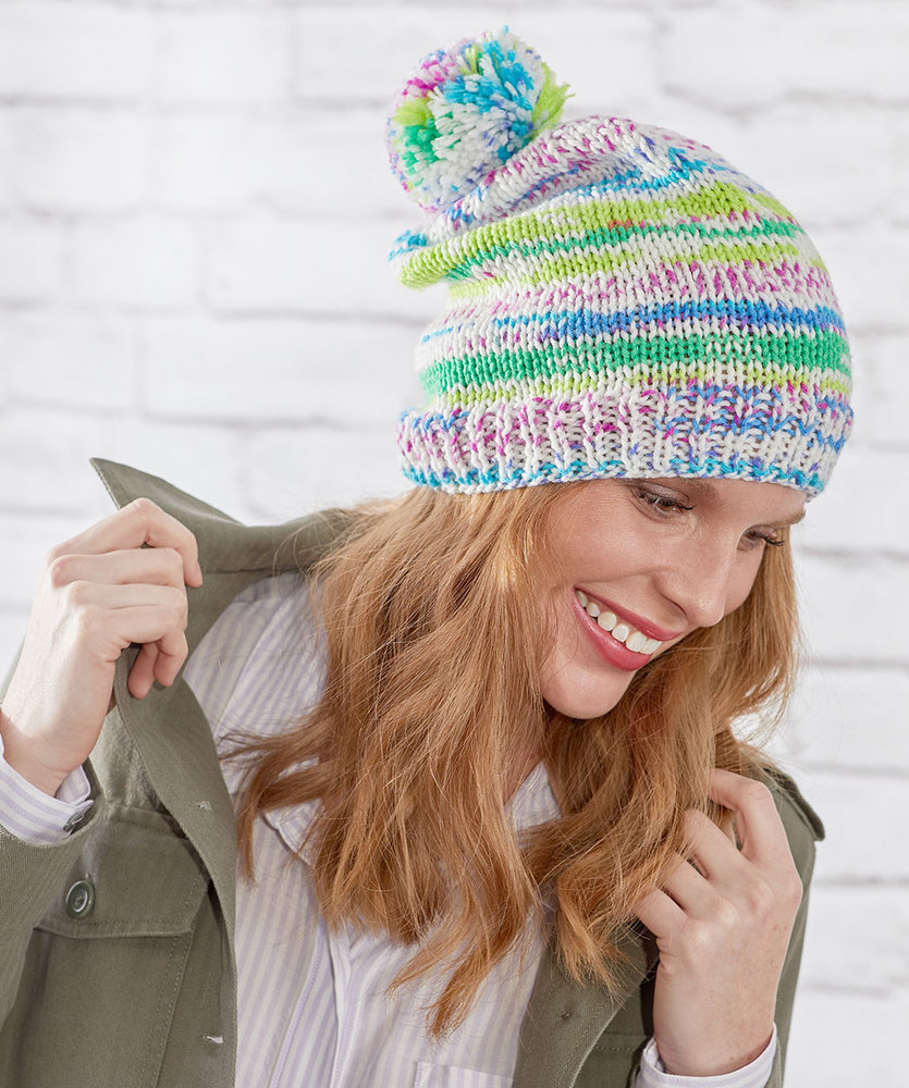 Free Knitting patterns for 3 Easy Stockinette Stitch Hats Fairisle