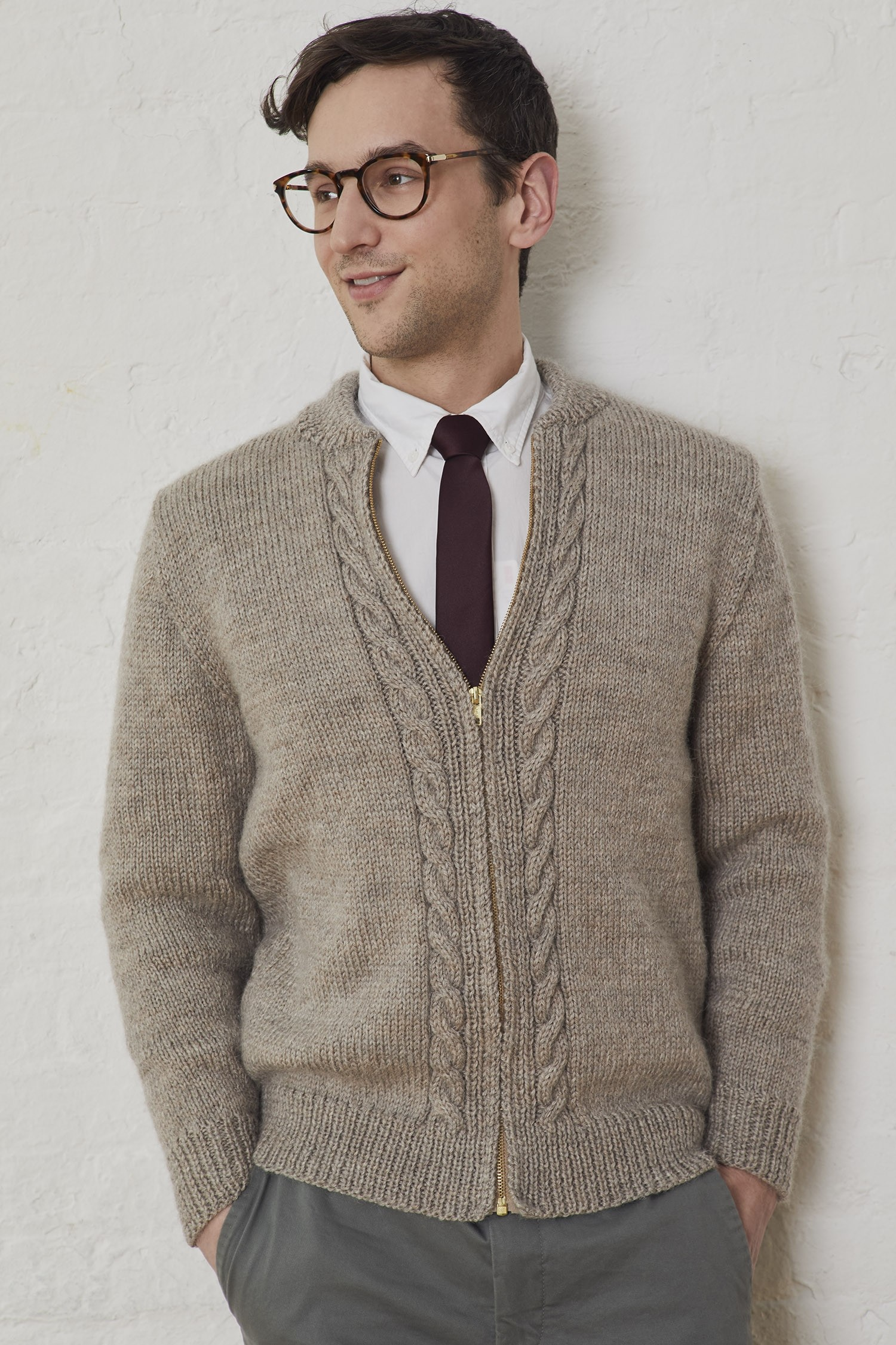 Free Mens Knitting Pattern For A Neighborly Cardigan Knitting Bee