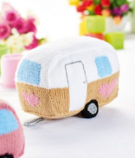Free Pattern For A Knitted Car And Caravan Toy Set 1 Knitting Bee