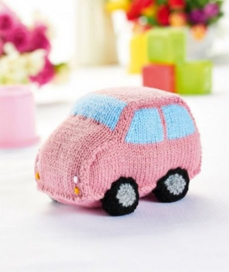 Free Pattern For A Knitted Car And Caravan Toy Set 2 Knitting Bee