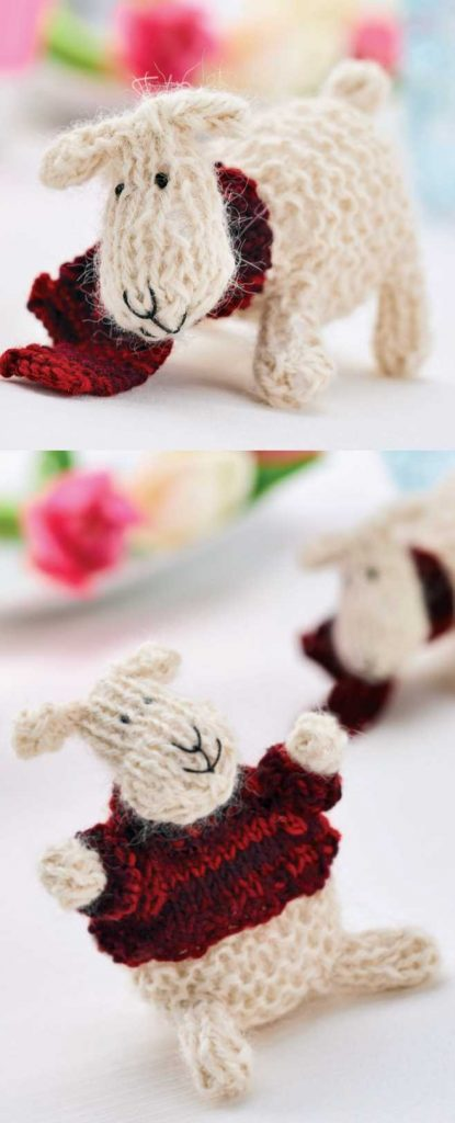 Free Knitting Pattern for a Little Sheep. Farm animal knitting pattern.