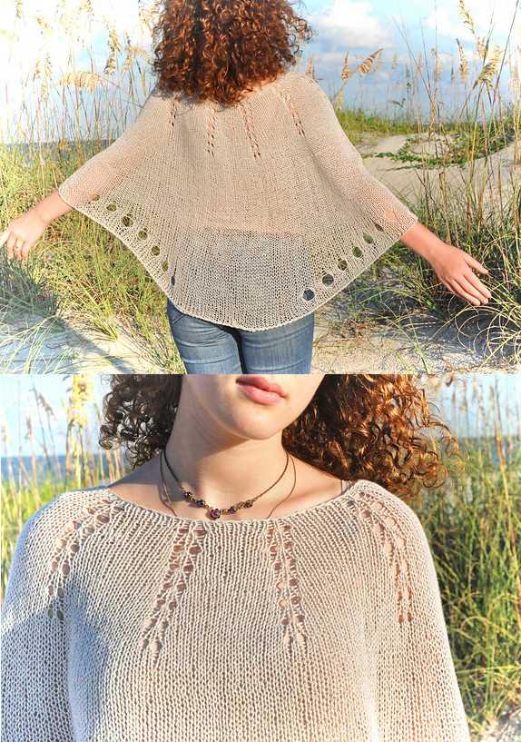 Free Summer Knitting Patterns 2018 Capelet