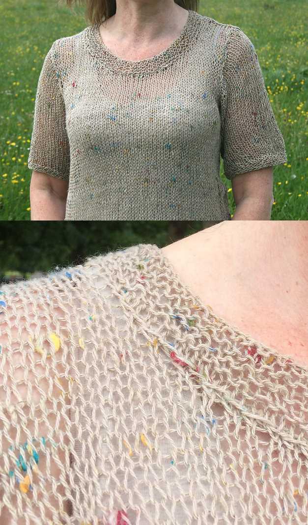 Free Summer Knitting Patterns 2018 loose linen top tee