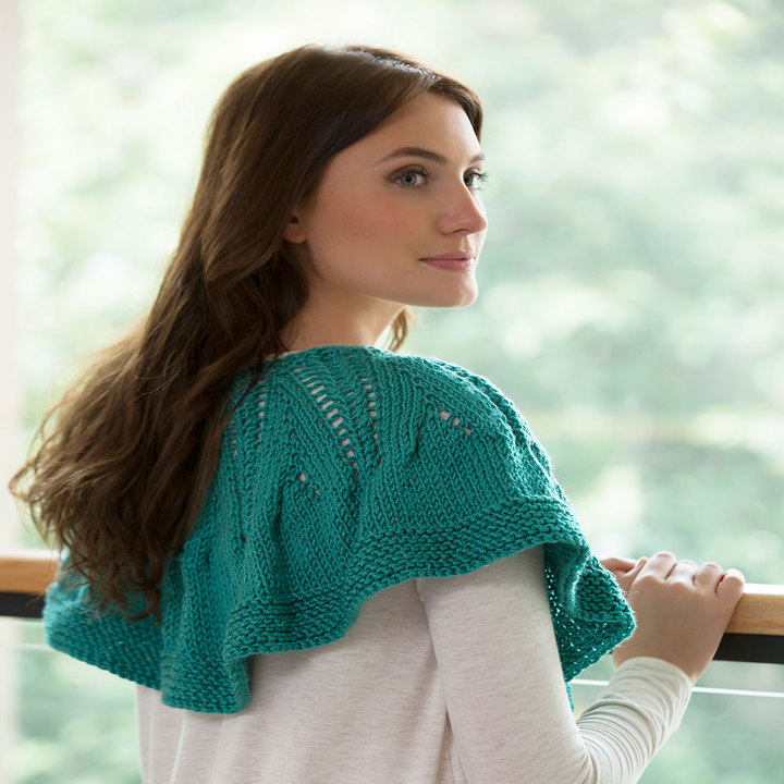 Free Knitting Patter for a Ruffle or Not Capelet