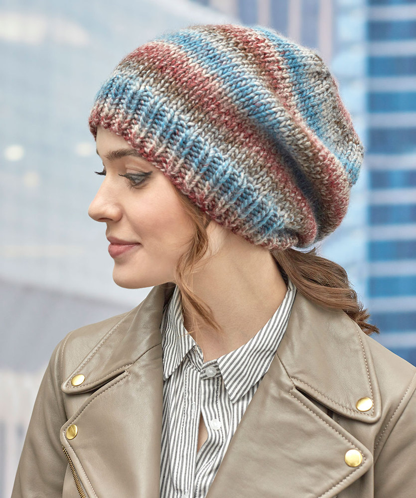 Free Free Slouchy Hat Knitting Patterns Patterns ⋆ Knitting Bee (23 ...