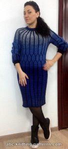 Classical Elegance Round Yoke Cable Dress