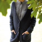 Free Knitting Pattern for an Easy Deep V-Neck Cardigan