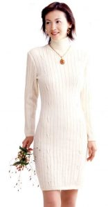 Fitted Cashmere Dress Free Knitting Pattern