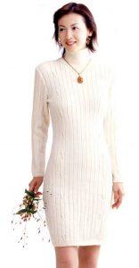 Fitted Cashmere Dress Free Knitting Pattern