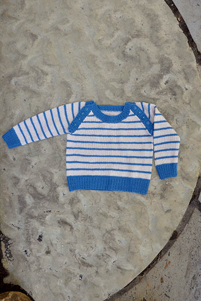 Free Baby Knitting Pattern for a Skipper Sweater