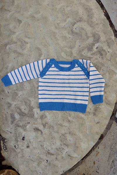 Free free striped baby sweater knitting pattern Patterns ⋆ Knitting ...