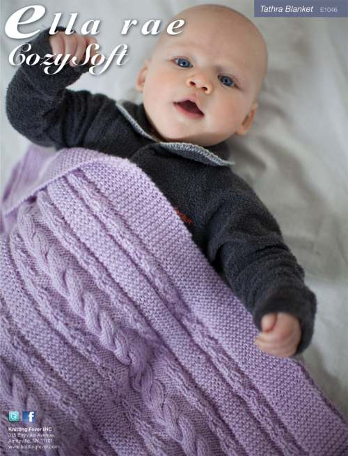 Free Baby Knitting Pattern for a Tathra Blanket
