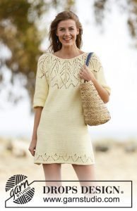 Free Dress Knitting Pattern Vanilla Summer. Lace Dress