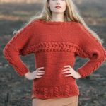Free Knitting Pattern for Cabled Renee Pullover.