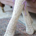 Free Knitting Pattern for Delicate Women's Lace Socks