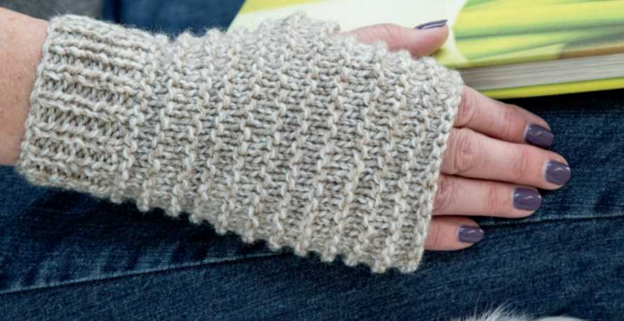 Free Knitting Pattern for Easy Fingerless Mitts - Knitting Bee