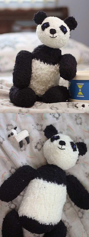Free Knitting Pattern for Picot the Panda ⋆ Knitting Bee