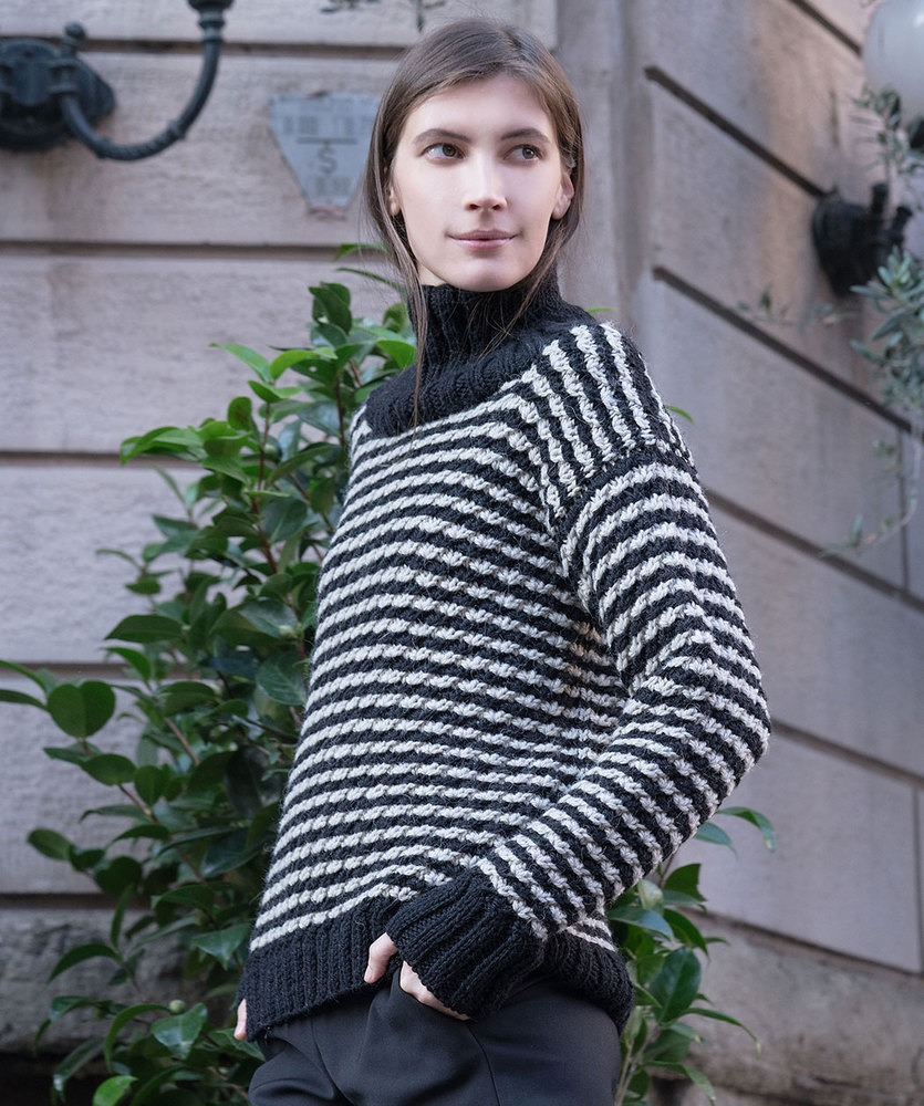 Free Knitting Pattern for a Abbraccio Colorwork Sweater