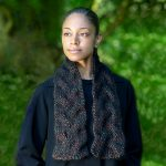 Free Knitting Pattern for a Autumn Braid Scarf. Chunky scarf knitting pattern with a cable stitch.