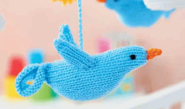 Free Knitting Pattern for a Bird