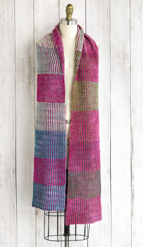 Free Knitting Pattern for a Byberry Scarf. Free brioche knitting pattern