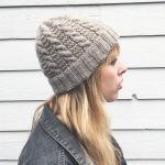 Free Knitting Pattern for a Cables and Ladders Hat