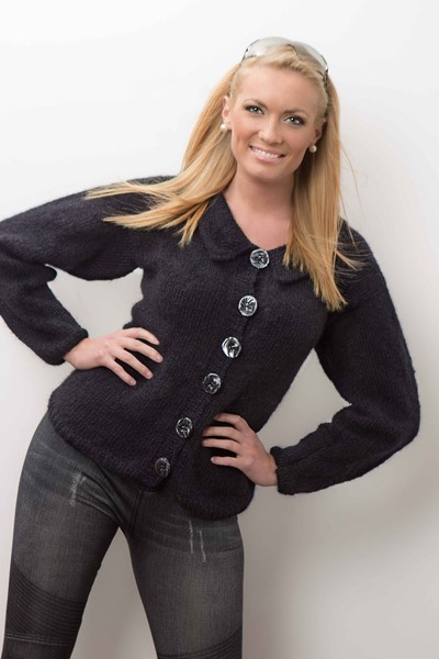 Free Knitting Pattern for a Cardigan with Peter Pan Collar