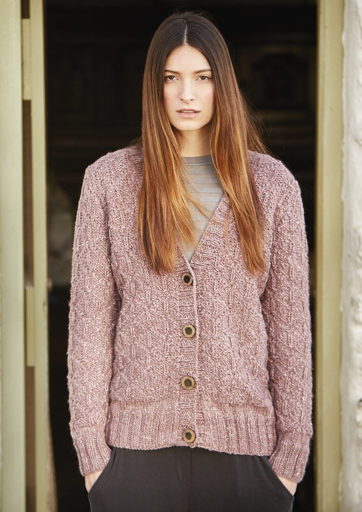 Free Knitting Pattern for a Cardigan with a Knit Purl Stitch