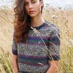 Free Knitting Pattern for a Charita Short-Sleeved Jumper