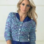 Free Knitting Pattern for a Cropped Lace Cardigan