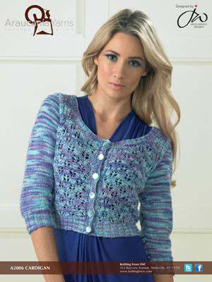 6a2c60ea4a85 Free Knitting Pattern for a Cropped Lace Cardigan ⋆ Knitting Bee