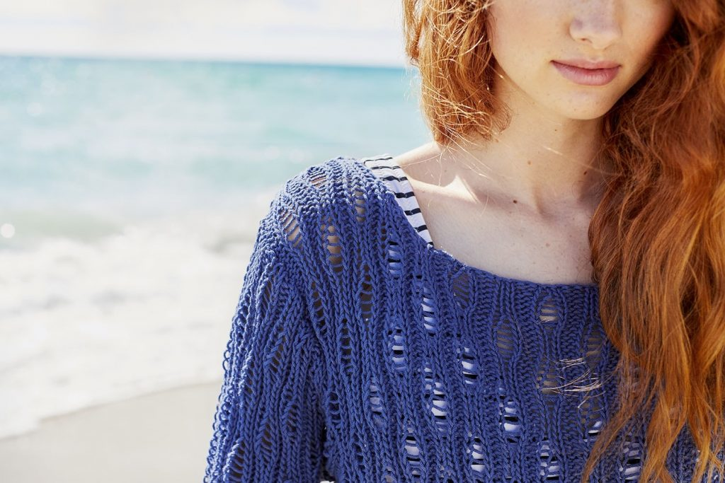 Free Knitting Pattern for a Drop-Stitch Pullover