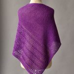 Free Knitting Pattern for a Herringbone Lace Shawl